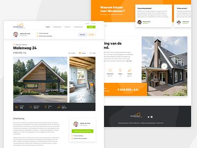 Moolenaar desktop redesign website desktop real estate house ux ui ux ui webdesign design