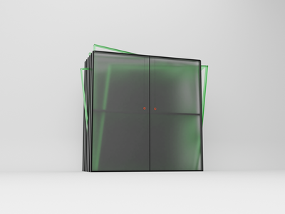 The draft Cabinet of the future v.3 ui render blender green model cg modeling 3d abstract design art