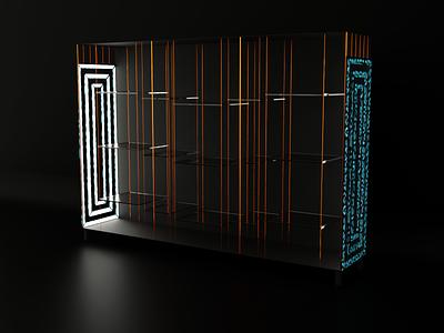 Elegant Cabinet for product presentations v.1 cg modeling abstract metal blender model 3d design art