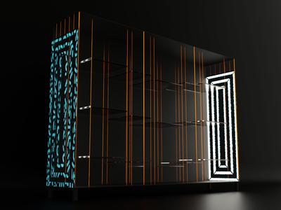 Elegant Cabinet for product presentations v.2