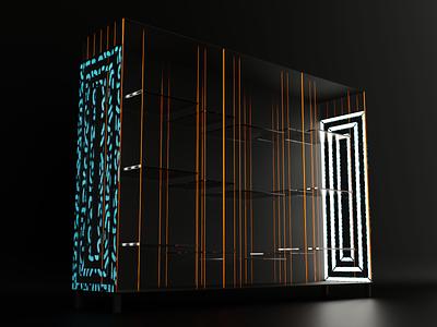 Elegant Cabinet for product presentations v.2 cabinet blender model cg modeling 3d abstract design art