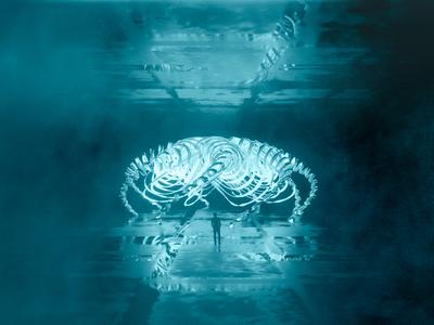 Life outside space💫 art cinema4d render ufo