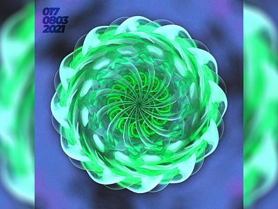 The quick end illustration green blender model cg modeling 3d abstract design art