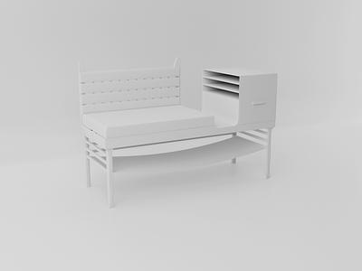 """Furniture in the hallway """"test of light» wood japan art blender"""
