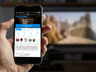 Smart TVGuide app ios app interface iphone tv guide