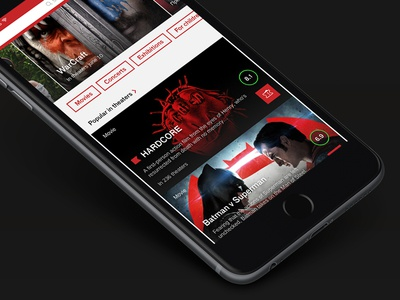Afisha main screen concept afisha app interface iphone ios