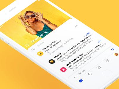 Mail App Concept apple iphone concept interface design ios app mail