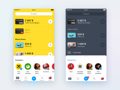 Left or right? banking app concepts