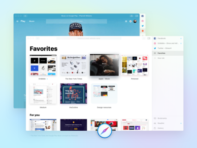 Safari for macOS / concept browser concept safari intefaces ui apple macos mac