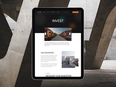 3DD Home. Website design branding building abstract landingpage landing website interaction invite typography screen ux ui design
