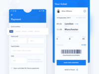 Kaola. Payment and Ticket screen