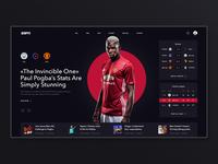 ESPN. UI redesign concept