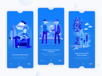 Kaola. App onboarding  with illustrations