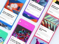 News App UI. Topic screen UI design