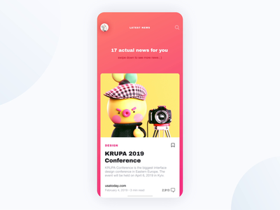 News App UI Animation