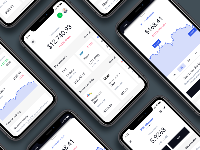CoinSpace. Cryptocurrency wallet app typography blue invite screen fintech finance graphicdesign uiux app design design wallet wallet app crypto exchange crypto currency crypto wallet app