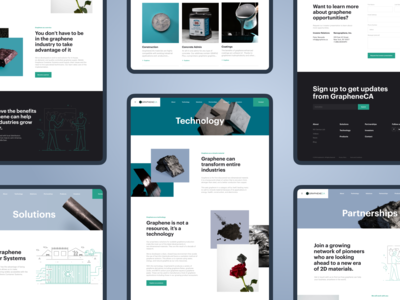 GrapheneCA. Corporate website redesign. Inner pages