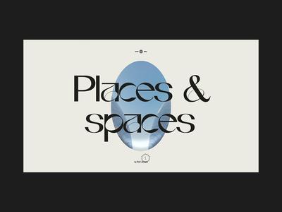 Places & Spaces photo photography travel menu navigation website interactive motion animation web design