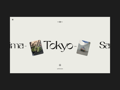 Places & Spaces Gallery portfolio navigation menu gallery photo website interactive motion animation design