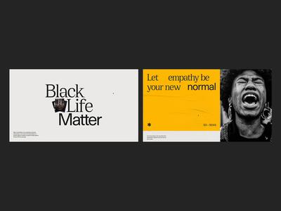 Black Life Matters website webgl web ux interface interactive motion animation design