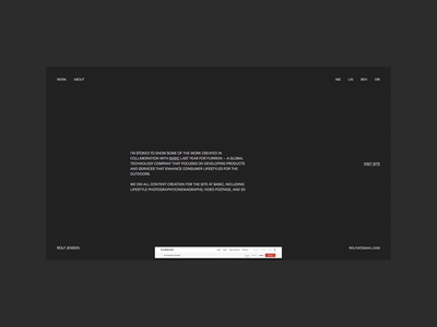 CASE & ABOUT typography branding website interface interactive motion web ui animation design