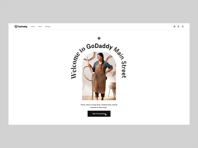 Stroll with GoDaddy typography web ui branding landing website interactive motion animation design