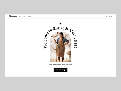 Stroll with GoDaddy typography web ui branding landing website interactive motion animation design