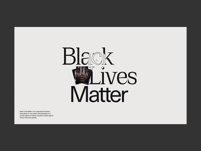 Black Lives Matter webgl landing web typography interface website illustration motion interactive animation design