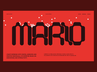 Mario Smaselli page branding landing typography website interactive motion ui web design