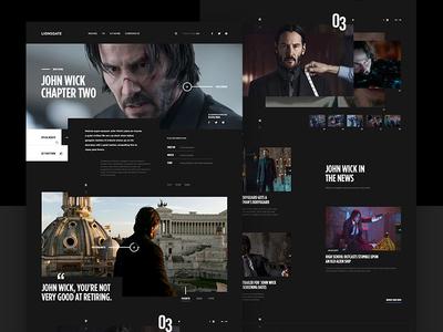 Lionsgate Title Page motion hacksaw entertainment movies films website animation intro landing lionsgate
