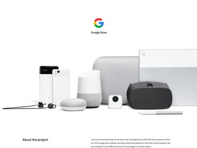 Google Store 2017 (@Behance) google fonts ecommerce store google interactive animation web ui design
