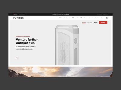 Furrion — Be Inspired to Explore Life travel store ecommerce motion interface ux web animation design ui basic