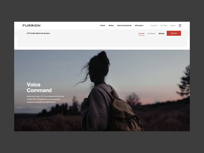 Furrion — Product Highlights ecommerce website interface ui animation 3d animation 3d travel landing motion interactive ux web design
