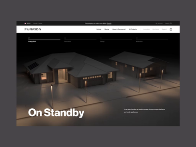 Furrion — Energy Pod illustration 3d page motion ux interface interactive animation ui web design