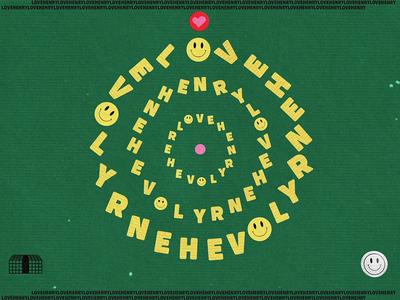 Love Henry (Sunday Moods) love heart smiley funny spin 2d animation illustration