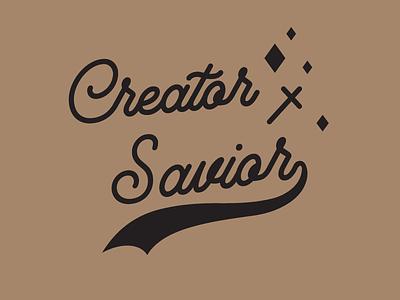 Creator x Savior-Script jesus christ script lettering typography digital art