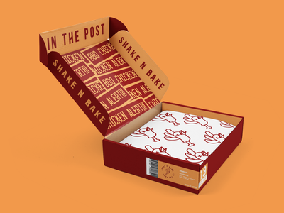 BBQ Chicken Alert-Shoe Box Packaging