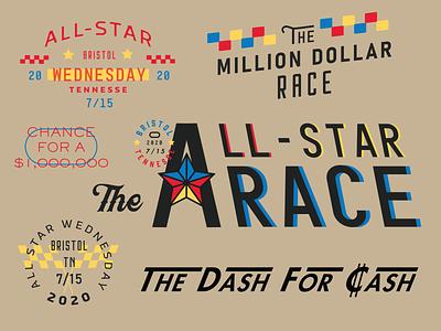 All Star Race Wednesday lettering typography logo vector art type art motorsports