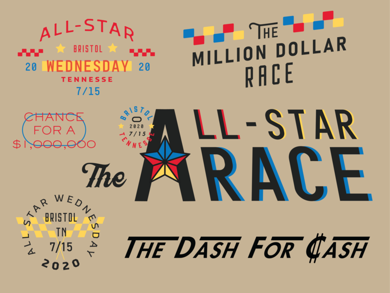 All Star Race Wednesday lettering typography logo vector art type art motorsports