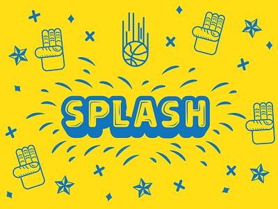 SPLASH poster art vector art typography