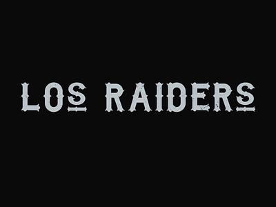 los Raiders football typography custom lettering lettering