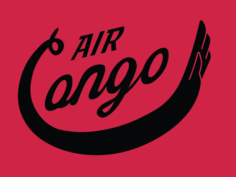Air Congo serge ibaka basketball sports design lettering typography