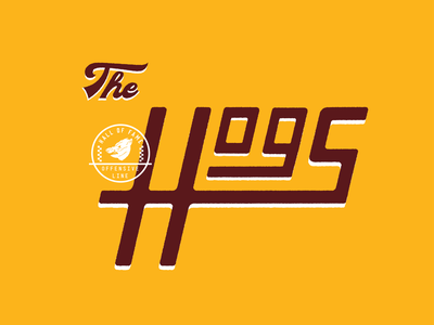 The Hogs nfl football vector art vector typogaphy