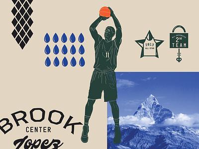 SPLASH MOUNTAIN photography typography illustration line art vector basketball vector art digital art