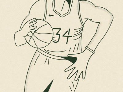 GIANNIS athletics sports nba illustration line art basketball digital art