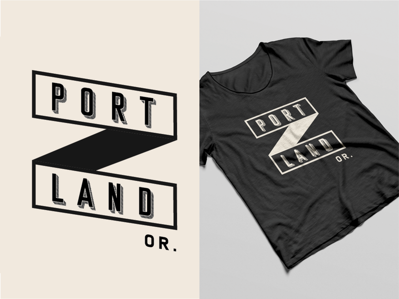 Portland Or. apparel apparel mockup mock-up oregon portland digital art