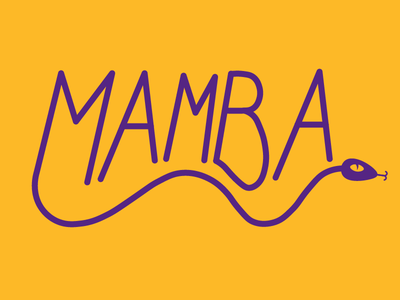 MAMBA tribute kobe bryant basketball typography