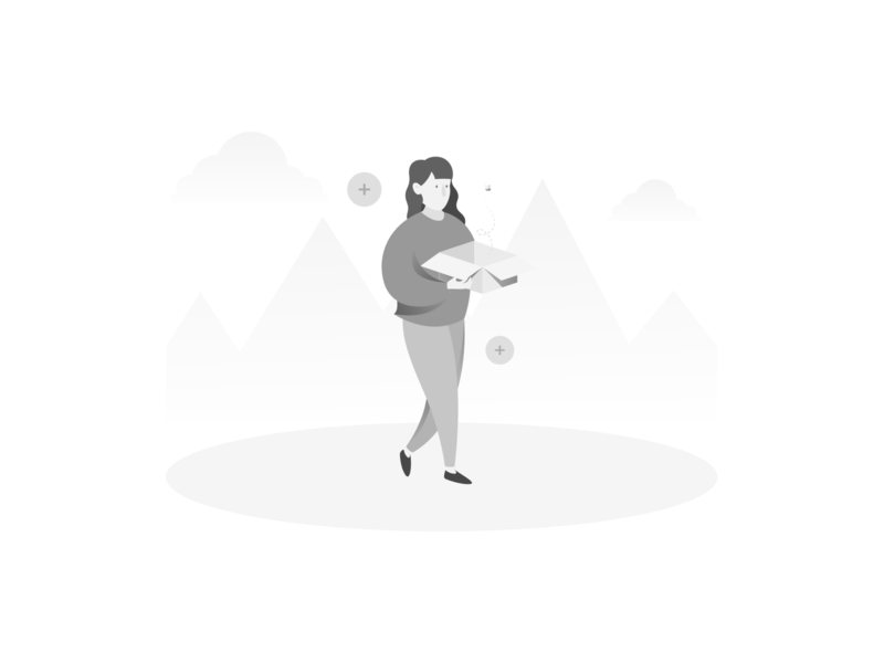 Add Register Empty State register greyscale people empty state design vector illustration ux ui