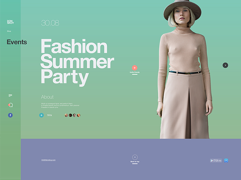 Donskoy / event page web prototyping mobile layout illustration idea design