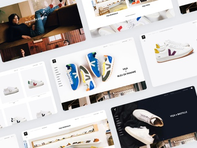 VEJA Store Website desktop website veja ui store sketch shoes magento home ecommerce dnd design agence